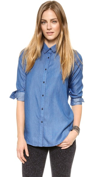 AYR The Clean Shirt in Wave Wash