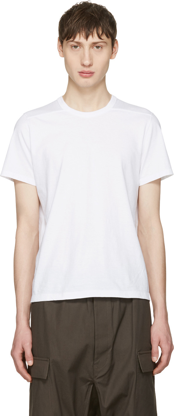White Level T-Shirt Rick Owens Cheap Sale Fast Delivery Sale Best Seller Discount Inexpensive GJzuz1gd
