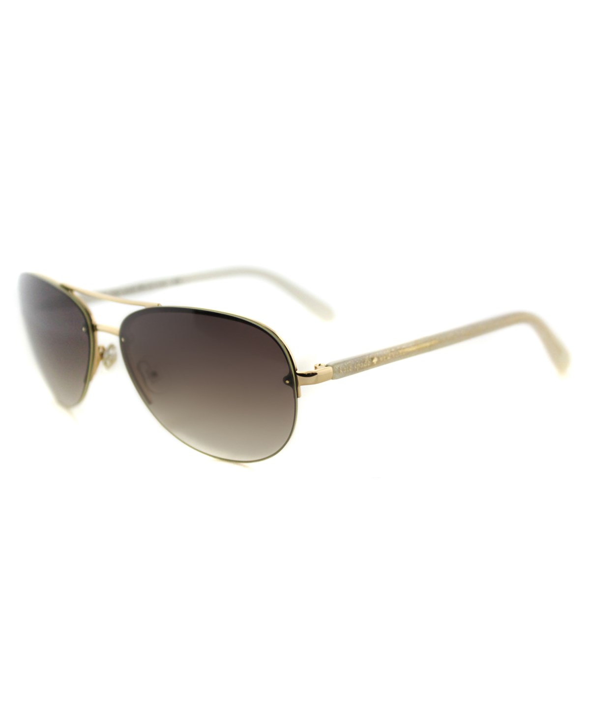 KATE SPADE BERYL AVIATOR METAL SUNGLASSES, GOLD BROWN
