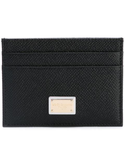 DOLCE & GABBANA Saffiano Leather Credit Card Holder, Black