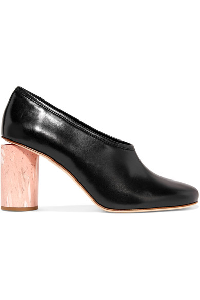 ACNE STUDIOS Amy Leather Pumps in Black