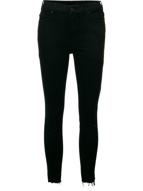 The Looker Ankle Fray Jeans In Hey, Good Lookin' in Black