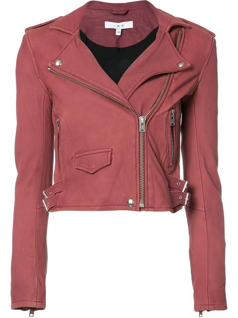Ashville Leather Biker Jacket in Magnolia