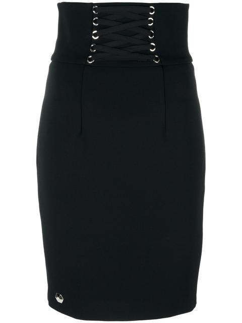 PHILIPP PLEIN Pepper Pencil Skirt in Black