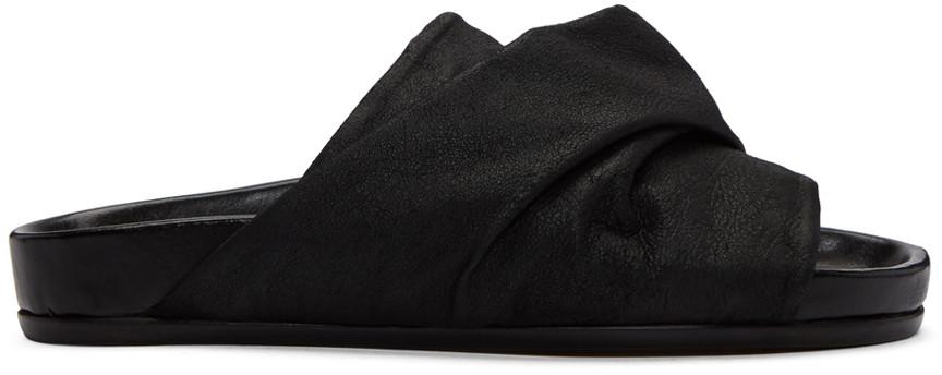 Black Mobius Granola Sandals