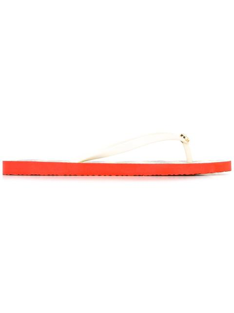 TORY BURCH Classic Flip Flop Sandals in Ivory/ Avalon/ Red