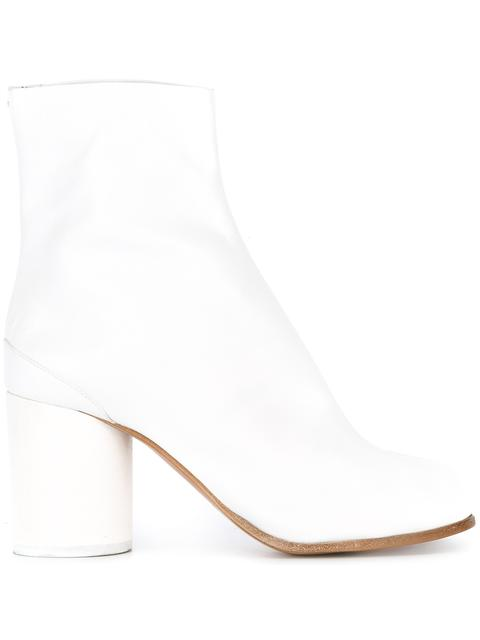 Tabi Leather Ankle Boots - White Size 8.5