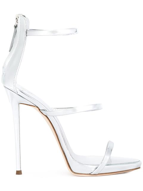 - Silver 'Harmony' Sandal With Three Straps Harmony in Metallic