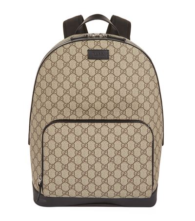 Logo Backpack, Beige Ebony/Nero