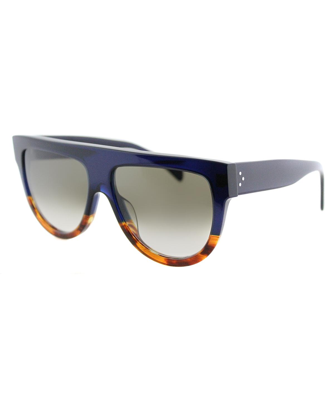 34019dbddbbb CELINE Shadow Cl 41026 S Plastic Flat Top Sunglasses