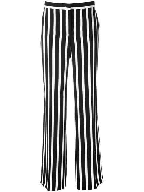 Alberta Ferretti Striped Wide Leg Trousers - Blue