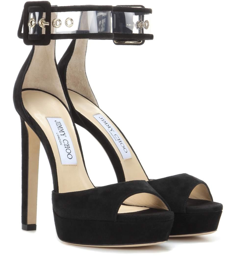 Mayner 130 black suede sandal Jimmy Choo London Whole World Shipping C6Xsqt
