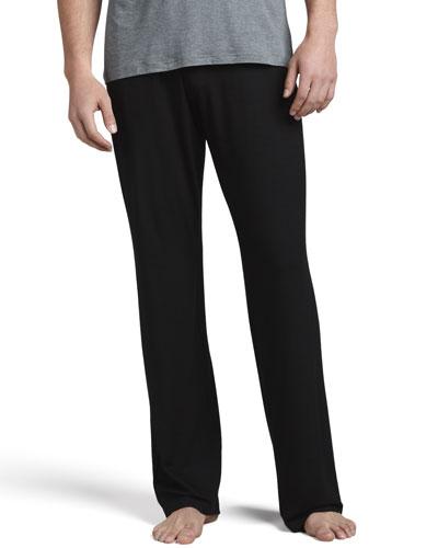 DEREK ROSE Basel 1 Jersey Lounge Pants, Black