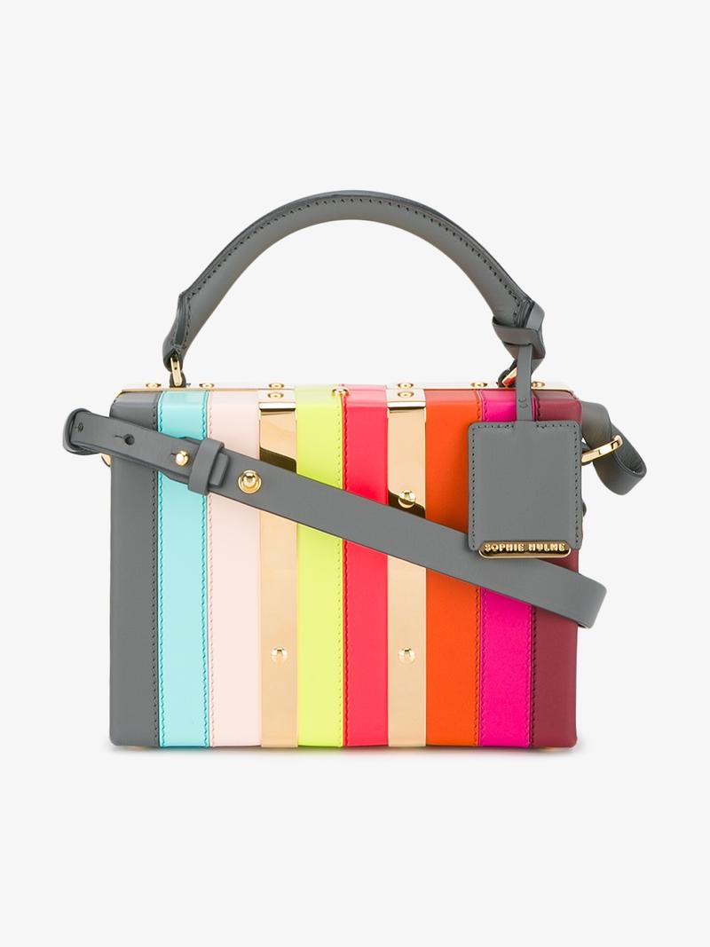 Mini Albany Suitcase Shoulder Bag in Multicolour
