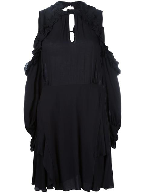 Ruffled Dress With Cut-Out Detail in Black from IRO