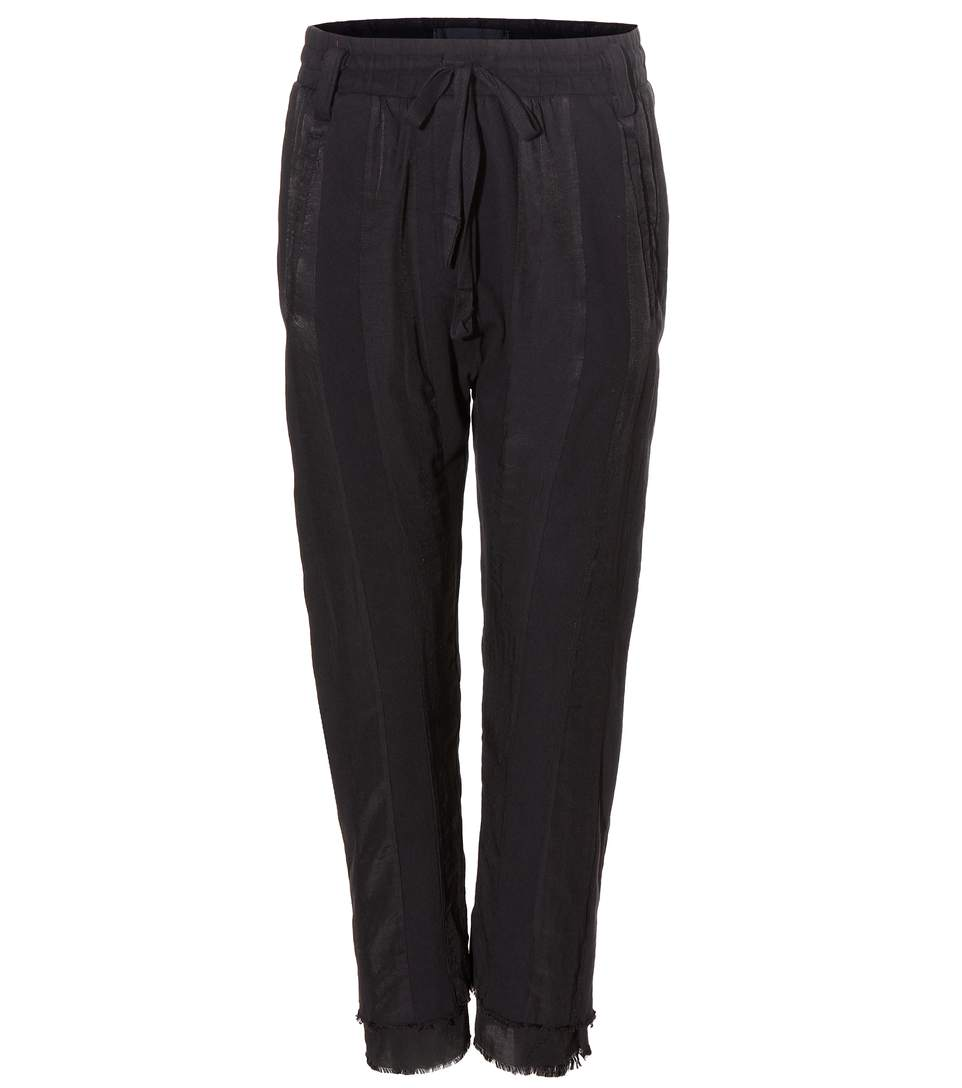 HAIDER ACKERMANN Raw Cuff Dropped Crotch Jogging Pants in Llack
