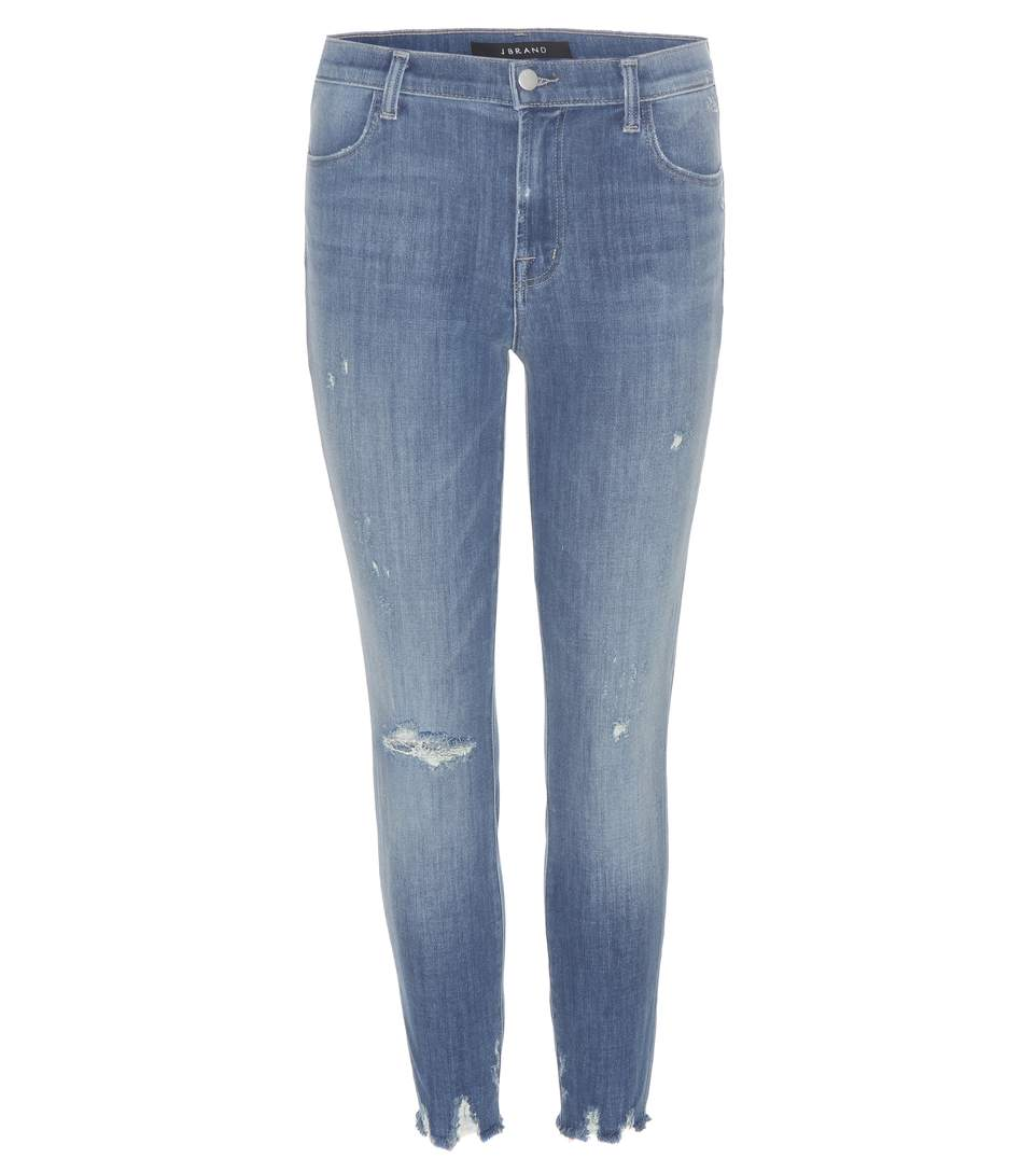 Alana High-Rise Cropped Jeans in Blue
