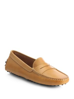 Gommini Leather Drivers Loafer, Brown