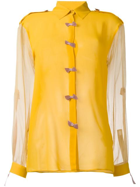 MARCO DE VINCENZO Bow Embellished Shirt