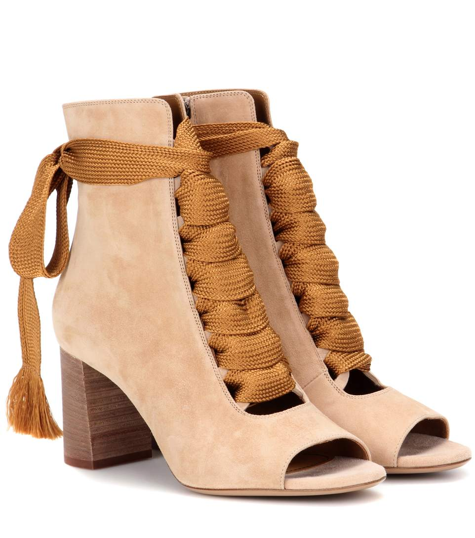 Classic For Sale Outlet Sale Online Chloé Peep toe ankle boots Cheap Sale Good Selling amy9Fs