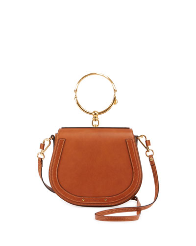 CHLOÉ Nile Bracelet Medium Leather And Suede Shoulder Bag, Additional Details Will Be Added When The Item Arrives In Stock