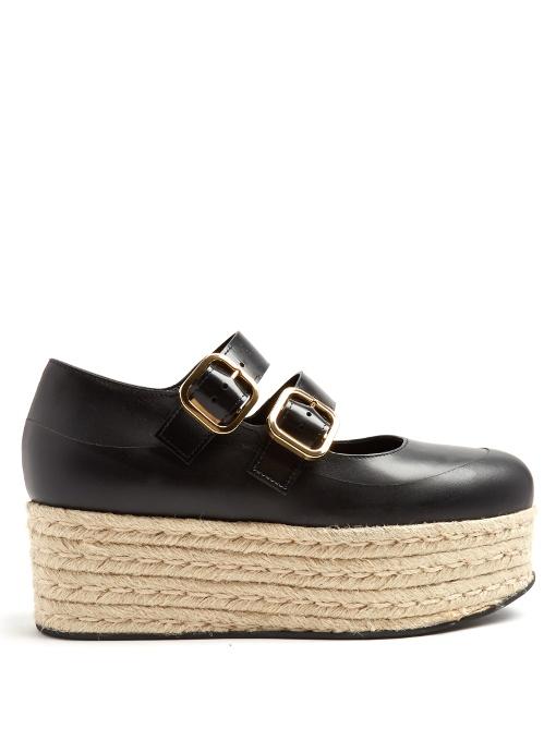 Marni Leather Espadrille Wedges