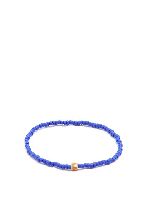 LUIS MORAIS Bead, Enamel And Yellow-Gold Bracelet in Blue