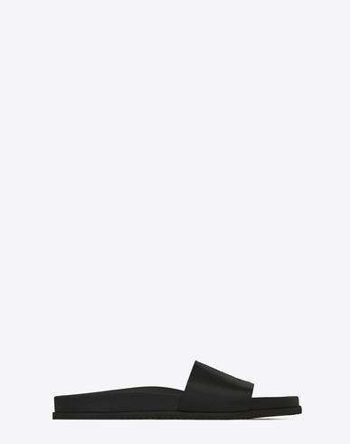SAINT LAURENT Jimmy 20 Sandal In Black Leather