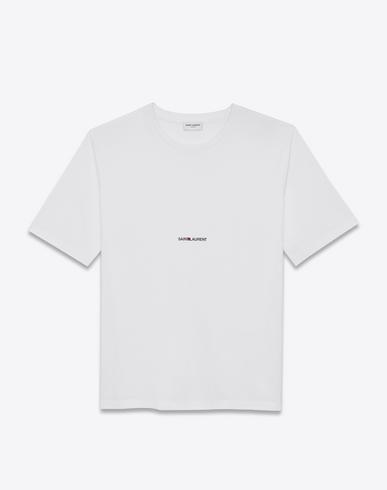 Printed Cotton-Jersey T-Shirt, White