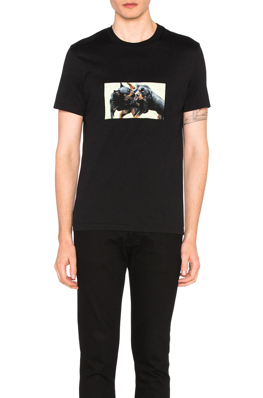 GIVENCHY Cuban-Fit Rottweiler-Appliquéd Cotton-Jersey T-Shirt in Black