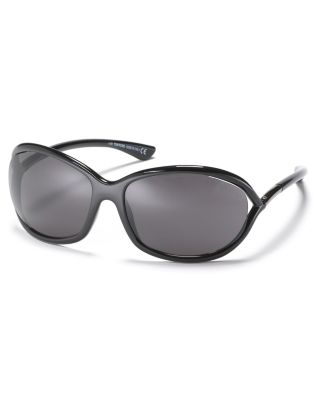 TOM FORD 'Jennifer' 61Mm Polarized Sunglasses in Shiny Black/ Grey Polarized