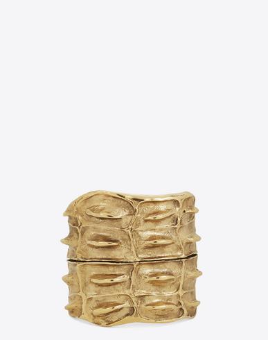 Opyum Crocodile Textured Cuff in Yellow