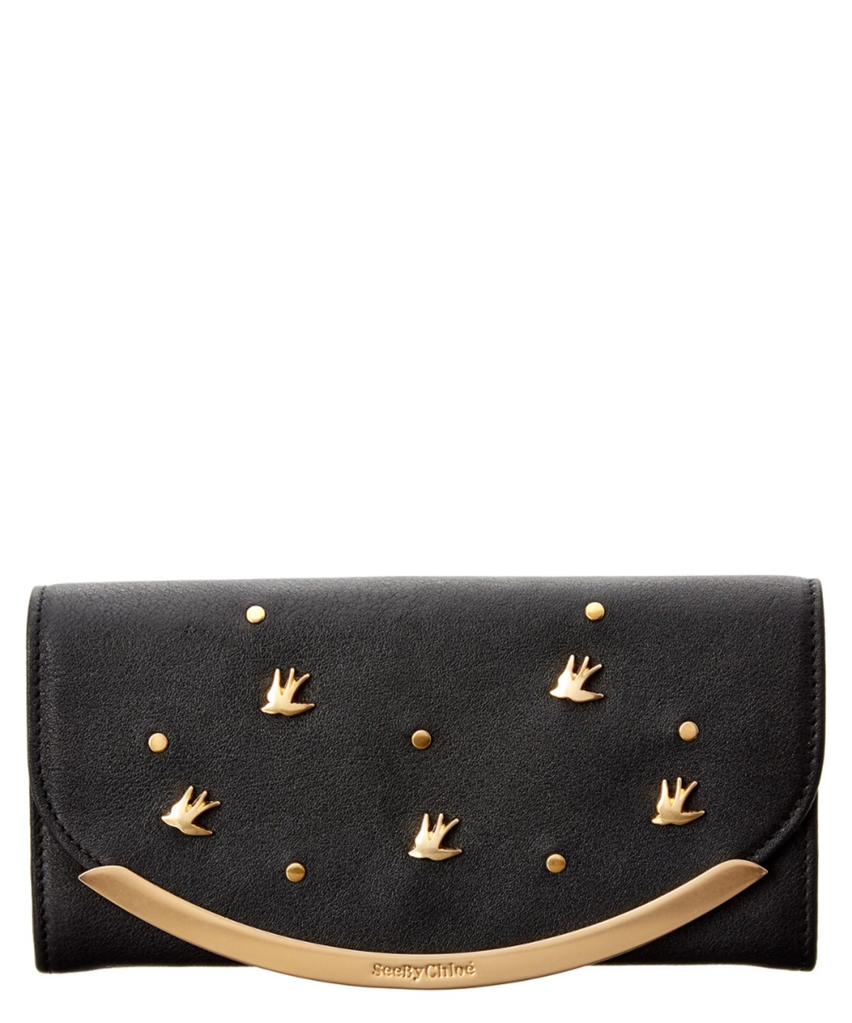 SEE BY CHLOÉ See By Chloe Lizzie Studded Leather Continental Wallet' in Brand Size Uni