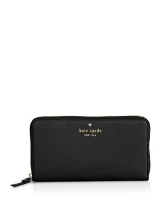 KATE SPADE Cobble Hill Lacey Wallet in Black/Gold