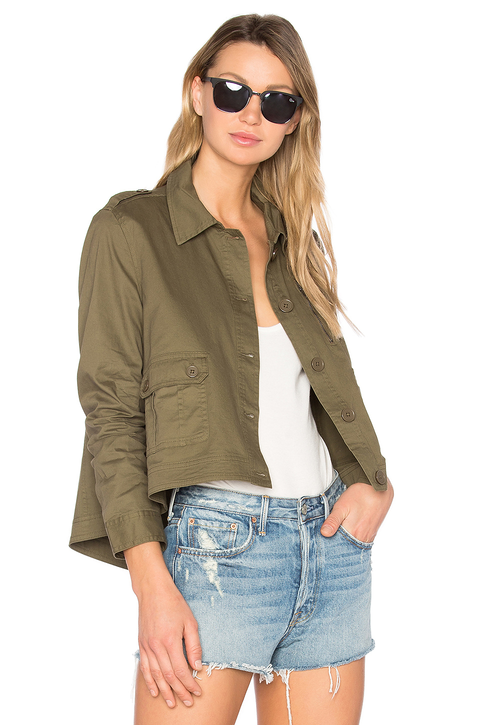 BB DAKOTA Jack By  Cardamom Jacket in Fern Green