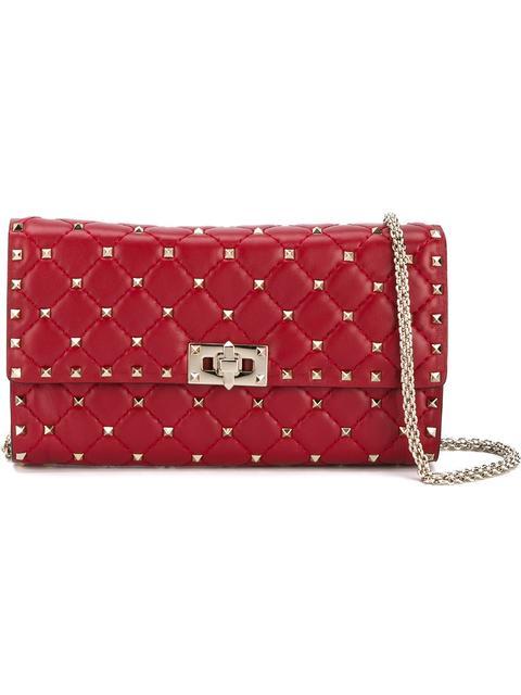 Valentino Valentino Garavani Rockstud Spike Chain Bag - Red