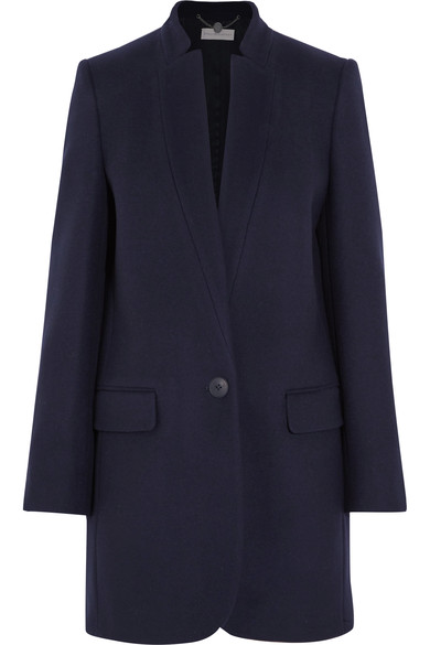 'Bryce' Melton Wool Blend Coat, Ink