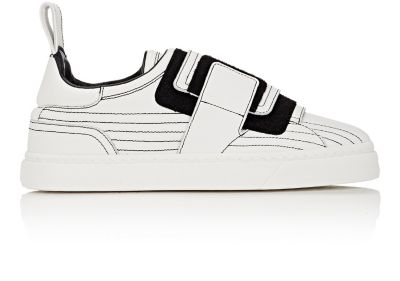 Monk-Strap Sneakers, White