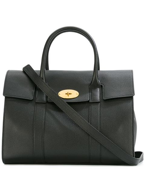 Bayswater Calfskin Leather Satchel - Black, Oxblood