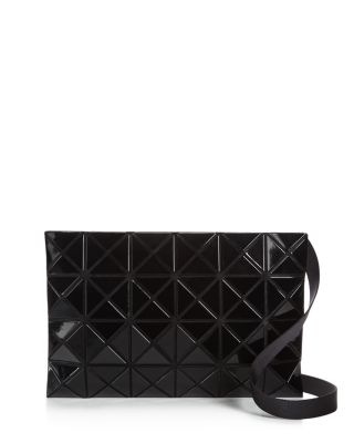 Geometric Paneled Waist Bag, Black