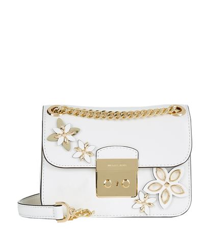 3efe6939f976f5 Michael Michael Kors Small Sloan Flowers Chain Crossbody Bag ...