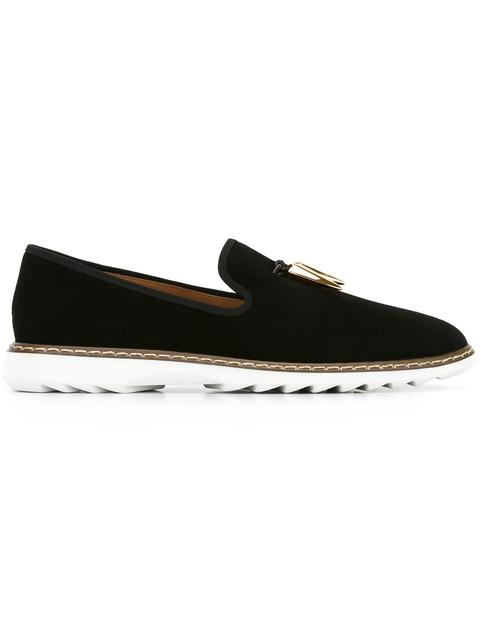 Giuseppe Zanotti Black velvet shoes with metal shark tooth accessory FRED Comfortable Buy Cheap Price Wide Range Of Online 2018 Unisex Cheap Price WroLfZRKJc