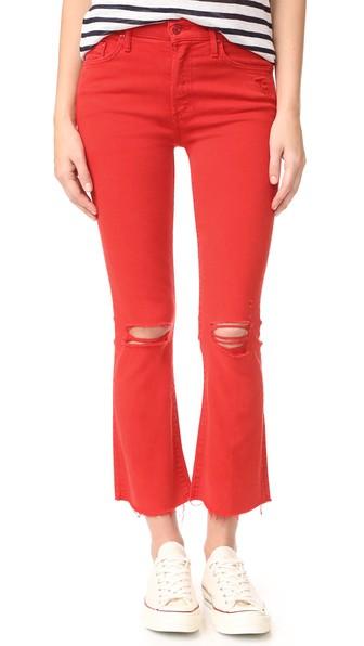 The Insider Crop Fray Jeans in Firecracker