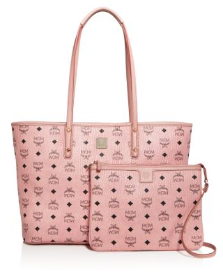Anya Soft Pink Top Zip Medium Shopping Bag