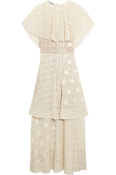Stella Mccartney Woman Erika Cotton-blend Lace Maxi Dress Ecru Size 38 Stella McCartney 5M0G1NqfR