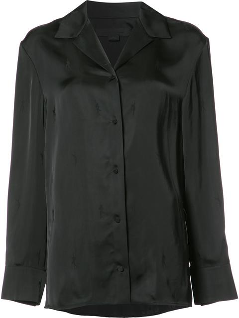 Alexander Wang Exotic Dancer Pyjama Shirt - Black
