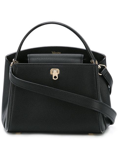 Valextra Micro Brera Shoulder Bag - Black