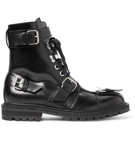 enjoy shopping Dries Van Noten Polished-Leather Boots sale get to buy gnmOeDxd