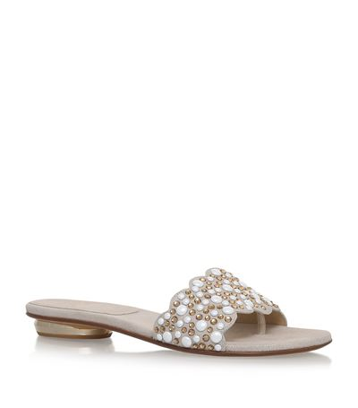 Stuart Weitzman Crystal-Embellished Slide Sandals Pictures Cheap Online Low Shipping For Sale qjRIrQ
