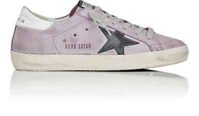 GOLDEN GOOSE Suede Superstar Low Sneakers in  Ash Grey